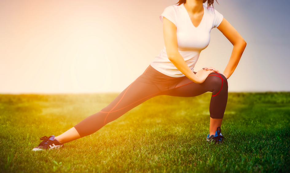 Woman Stretching Outdoor Fitness